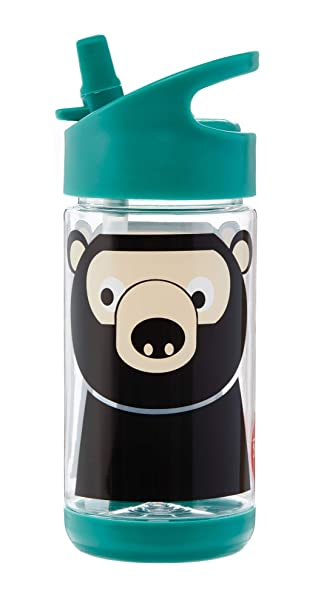 18oz Water Better Flask Kids Water Bottle Cute Animal Design-Light Weight-Safety Ring