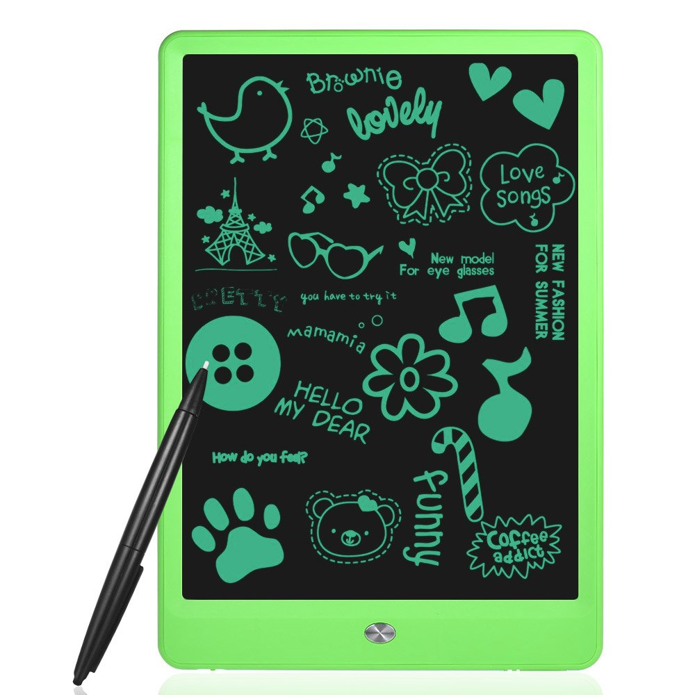 Aibecy 10'' LCD Writing Tablet Digital Drawing Pad Memo Electronic Graphics Board Paperless Handwriting Notepad Small Blackboard Support Screen Clear Lock, with Pen