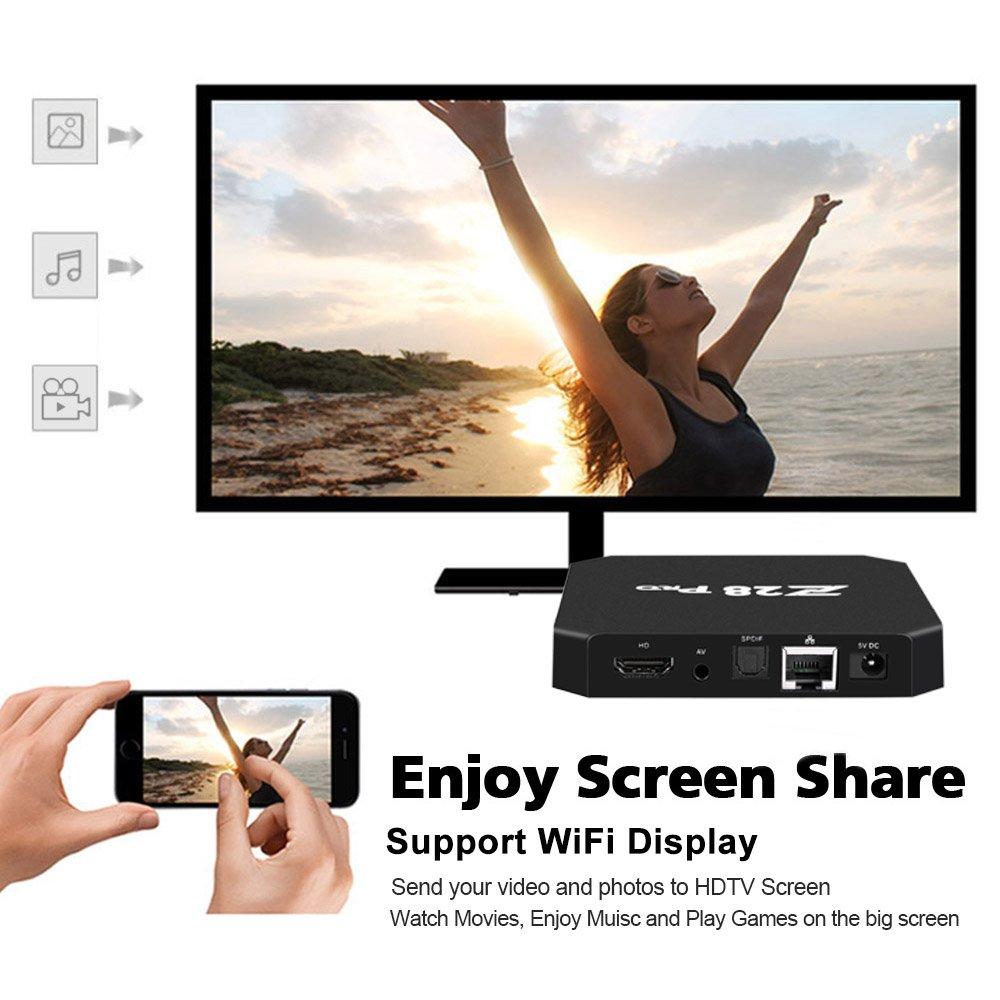 Docooler Smart TV Mini PC HD Media Player Android 7.1 RK3328 Quad Core 64 Bit UHD 4K VP9 H.265 USB3.0 2GB / 8GB WiFi LAN US Plug by Docooler (Image #3)