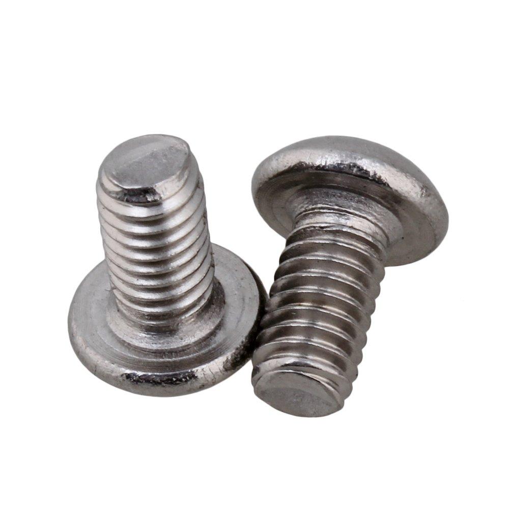 Yibuy 50pcs M4 Button Head Hex Socket Cap Screws Bolts
