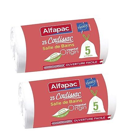 Alfapac - Bolsas de basura para cuarto de baño (25 unidades ...