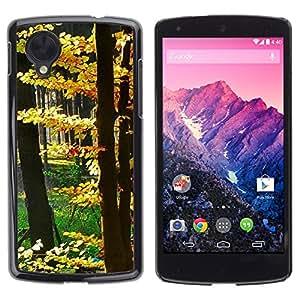 TopCaseStore / la caja del caucho duro de la cubierta de protección de la piel - Plant Nature Forrest Flower 14 - LG Google Nexus 5 D820 D821