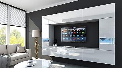 HomeDirectLTD Future 29 Moderne Wohnwand, Exklusive Mediamöbel, TV-Schrank,  Schrankwand, TV-Element Anbauwand, Garnitur, Große Farbauswahl (RGB ...
