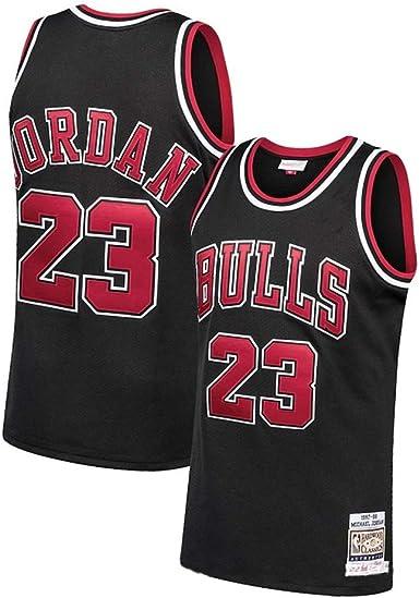 Camiseta de Baloncesto Michael Jordan Chicago Bulls 23# Men, Camiseta de Baloncesto Bordada sin Mangas Retro Unisex, Chaleco Deportivo para Gimnasio, Secado rápido: Amazon.es: Ropa y accesorios