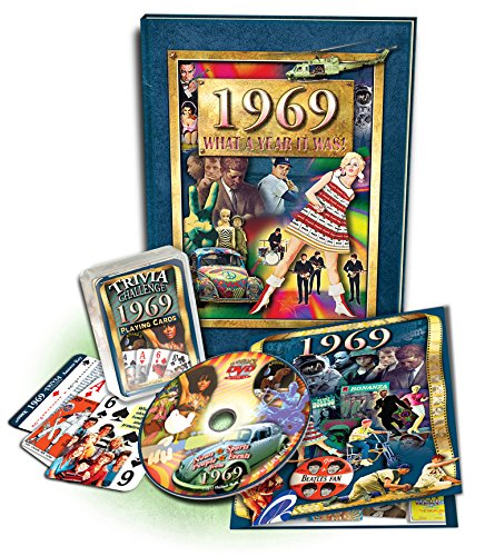 Trivia Card Set - 50th Birthday Gift Set: 1969 Flickback Book, DVD & Trivia Playing Cards