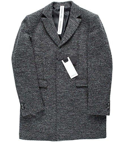 Hamaki-Ho Herren Kurzer Wollmantel Grau