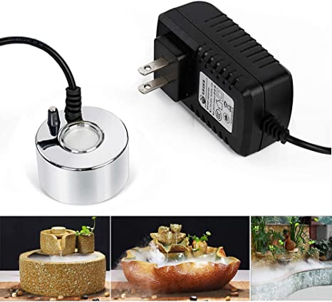 Halloween Christmas and Other Holidays Black Small Pond Fog Machine Atomizer Air Humidifier Perfect for Water Feature SURPRIZON Mini Mist Maker Indoor Tabletop Fountain Mister Foggers