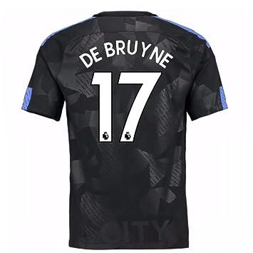competitive price d7190 74116 Amazon.com : 2017-18 Man City Third Football Soccer T-Shirt ...