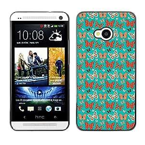 ZECASE Funda Carcasa Tapa Case Cover Para HTC One M7 No.0003596