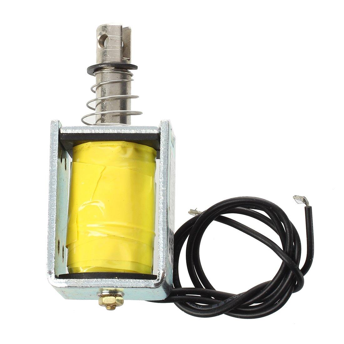 SODIAL(R) DC 12V Push Type Open Frame Solenoid Electromagnet