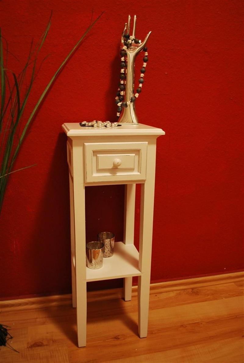Livitat® Telefontisch II Landhaus antik weiß Tisch Beistelltisch ...