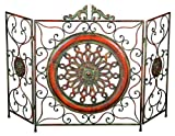 Deco 79 21871 Metal Fire Screen, 35''H/55''W
