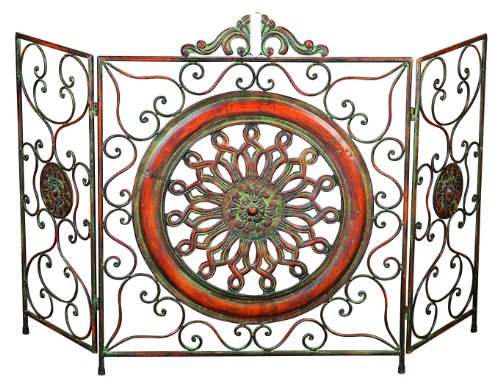 Deco 79 21871 Metal Fire Screen, 35''H/55''W by Deco 79