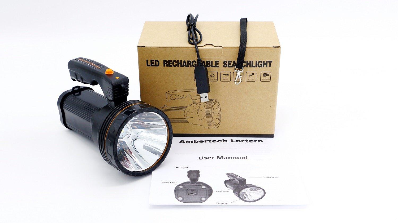 Linterna Ambertech de 10.000 lúmenes recargable por solo 31,99€