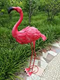 38'' Metal Pink Garden Flamingo Party Ornaments Decoration
