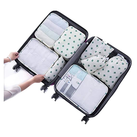 Amazon.com | 8 pcs Luggage Packing Organizers Packing Cubes Set for Travel | Packing Organizers