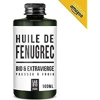 HUILE DE FENUGREC BIO 100% Pure et Naturelle, Pressée à Froid & Extra Vierge. Augmentation de la poitrine (100ml)