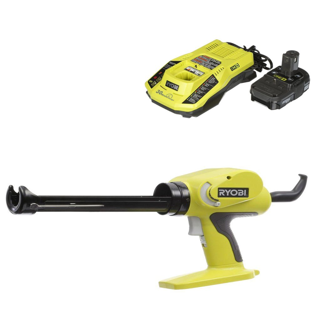 Ryobi 18-Volt ONE+ Power Caulk and Adhesive Gun with charger and battery
