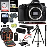 Canon EOS 80D Digital SLR Camera Body, 64GB Memory Card, Ritz Gear Camera Backpack, Camera Flash, Camera Microphone, Universal Remote, Ritz Gear 57 Tripod, Lens Cleaning Kit, and Accessory Bundle