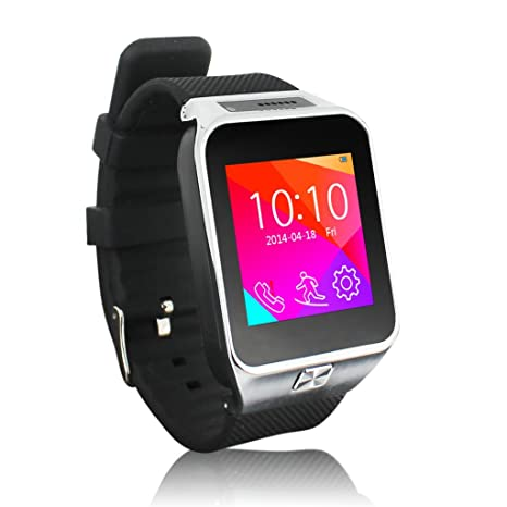 Green House PGD S29 Smartwatch Reloj Inteligente Phonewatch Sincronización por Bluetooth con Pulsera de Silicona Argénteo