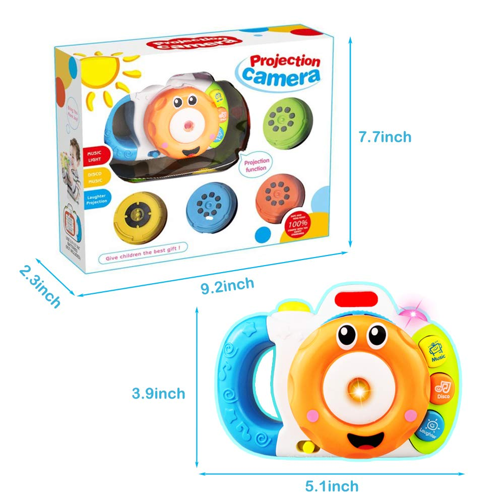 SUGOO Projection Music Camera Toy for 1-5 Year Old Boy Girl Kid ...