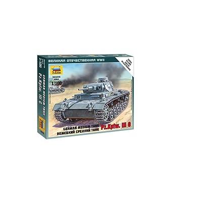 1/100 Germ Tank Panzer III Snap, new Tool: Zvezda: Toys & Games