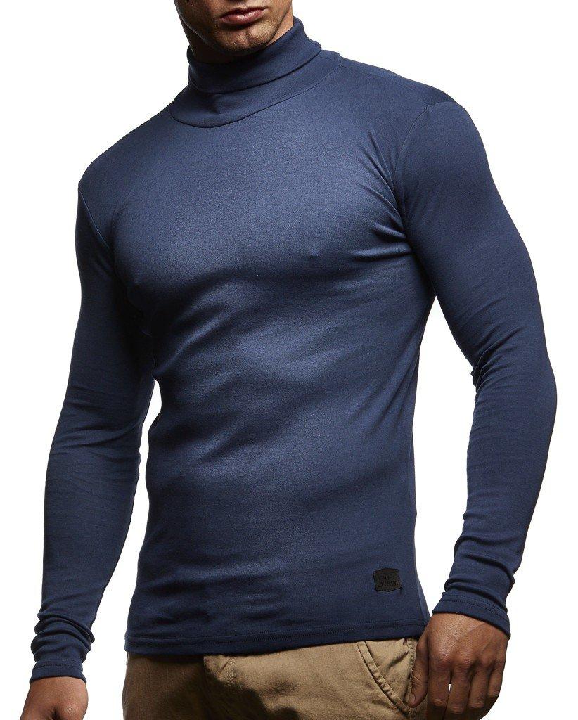Leif Nelson Herren Rollkragenpullover Pullover Rollkragen Hoodie Sweatshirt Shirt