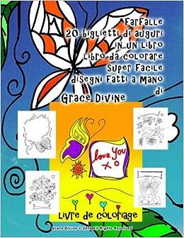 Farfalle 20 Biglietti Di Auguri In Un Libro Libro Da Colorare Super