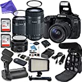 Canon EOS 80D Digital SLR Camera with Canon EF-S 18-55mm f/3.5-5.6 IS STM Lens + Canon EF-S 55-250mm f/4-5.6 IS STM Lens + Canon EF 50mm f/1.8 STM Lens + ULTIMATE DigitalAndMore Creator Bundle