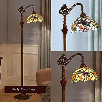 WRMING Tiffany Lampadaire Sur Pied Salon, Lampe de Plancher