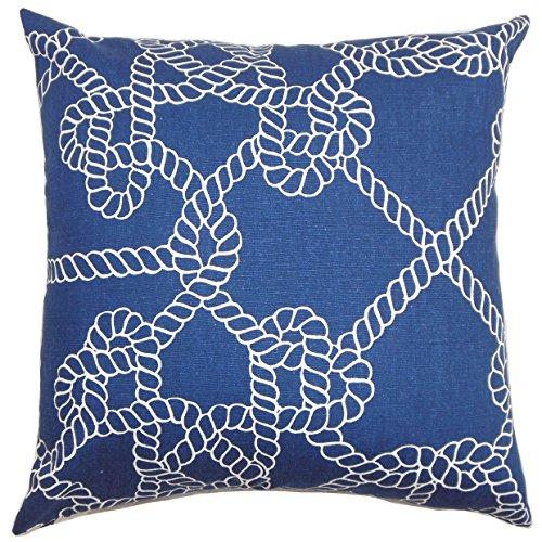 - The Pillow Collection Accalia Coastal Pillow, Navy Blue