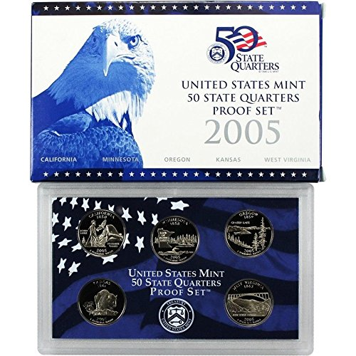 2005 S United States Mint 50 State Quarters Proof Set Gem (United States Mint Quarters)