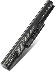 SOLICE New VGP-BPS35A VGPBPS35A SVF142A29L SVF142C29L Laptop Battery for Sony VAIO 14E 15E SVF1521A2E SVF152C29M SVF14215SC SVF15218SC SVF142C29U SVF14322CXB (14.8V 2200Mah)