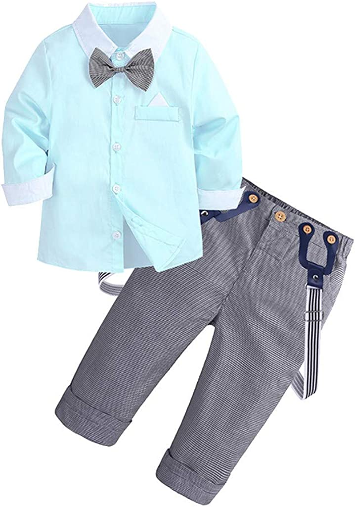 Baby Toddler Girls Clothes Sets 1-6 Years Old Kids Long Sleeve Bow Shirts Tops Stripe Pants Fall Winter Outfits