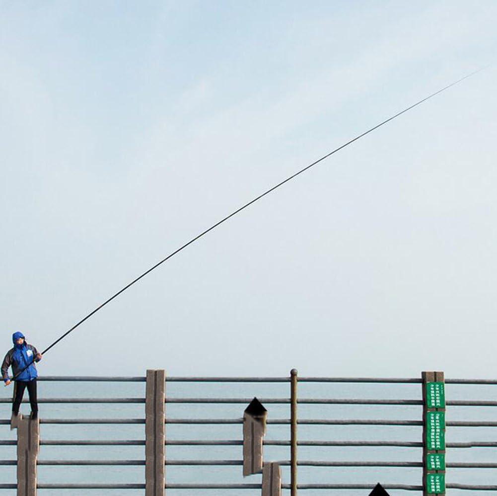 YXYH Largo Telescópico Cañas de Pescar Fibra de Carbono Ultra ...
