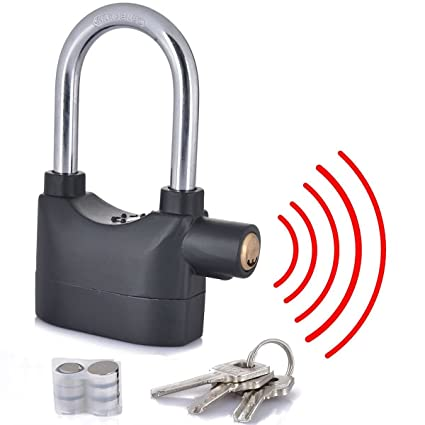 Cpixen Anti Theft Burglar Pad Alarm Lock with Motion Sensor Security Home Office and Bike Bicycle Shop