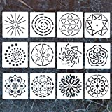 (US) 13 Pack Mandala Dotting Stencils Template,Mandala Dotting Stencils Mandala Dot Painting Stencils Painting Stencils for Painting on Wood,Airbrush and Walls Art