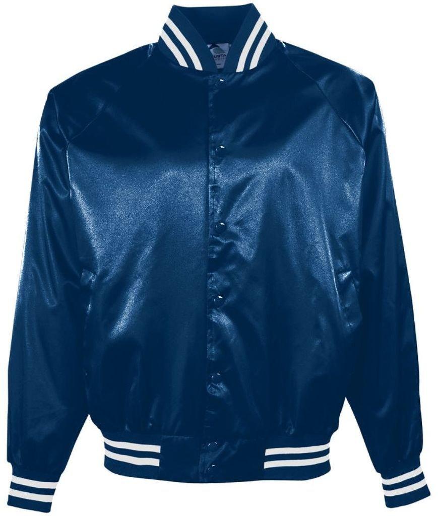 Augusta Sportswear メンズサテン野球ジャケット/ストライプ柄。 B00ID7HRE4 S|ネイビー/ホワイト ネイビー/ホワイト S