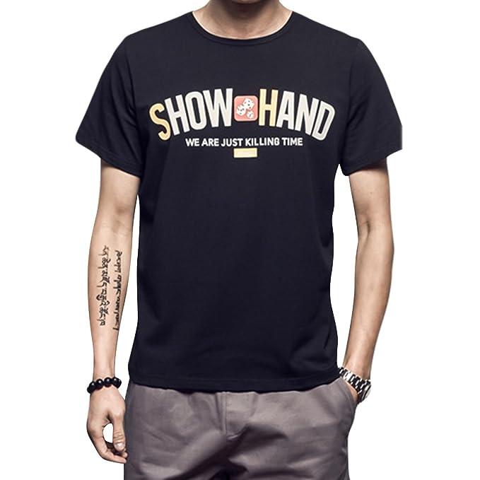 ZFFde Causal Camiseta para Hombres Camiseta Causal de Verano para Hombre Camisetas Estampadas Camisas de Manga