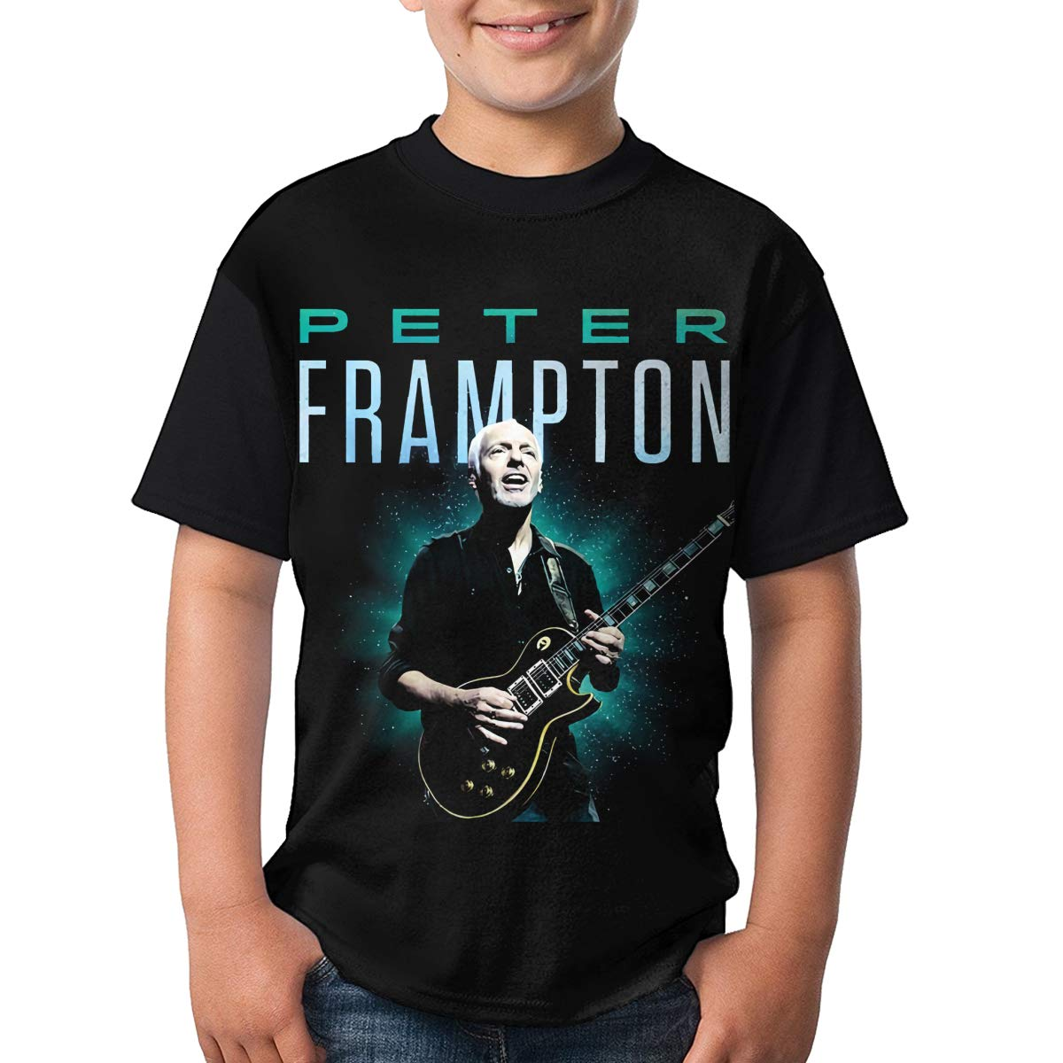 LisaJYancey Peter Frampton T Shirt Youth Boy Shirt Round Neck Short Sleeve Tees