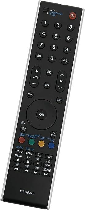 ALLIMITY CT-90344 75018021 Reemplace el Control Remoto por Toshiba REGZA LCD TV 32RV733D 40RV733G 40MV732 32RV743 40RV733 46XV733 37RV733 46XV733F 37XV733 46XV733G 40RV733F 75018021: Amazon.es: Electrónica