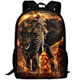 ZQBAAD Africa Elephant Luxury Print Men And Women's Travel Knapsack
