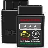kungfuren OBD2 Bluetooth Scanner, OBD 2 Reader Car OBD Diagnostic Scanner Fault Code OBD ii OBD-ii Reader Tool Compatible with Android & Windows Devices