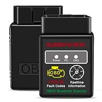 OBD2 Bluetooth Adapter, kungfuren Auto OBD II Diagnosegerät diagnose Scanner Code Reader Tool das nur mit Android & Windows Geräten kompatibel ist