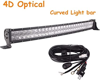 wire KIT 22inch 120W LED Light Bar Flood Spot Combo for Offroad SUV ATV 4WD