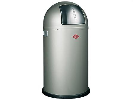 Wesco Pushboy Chroom.Wesco Dustbin Pushboy Freestanding Bins 50 Liter Amazon Co
