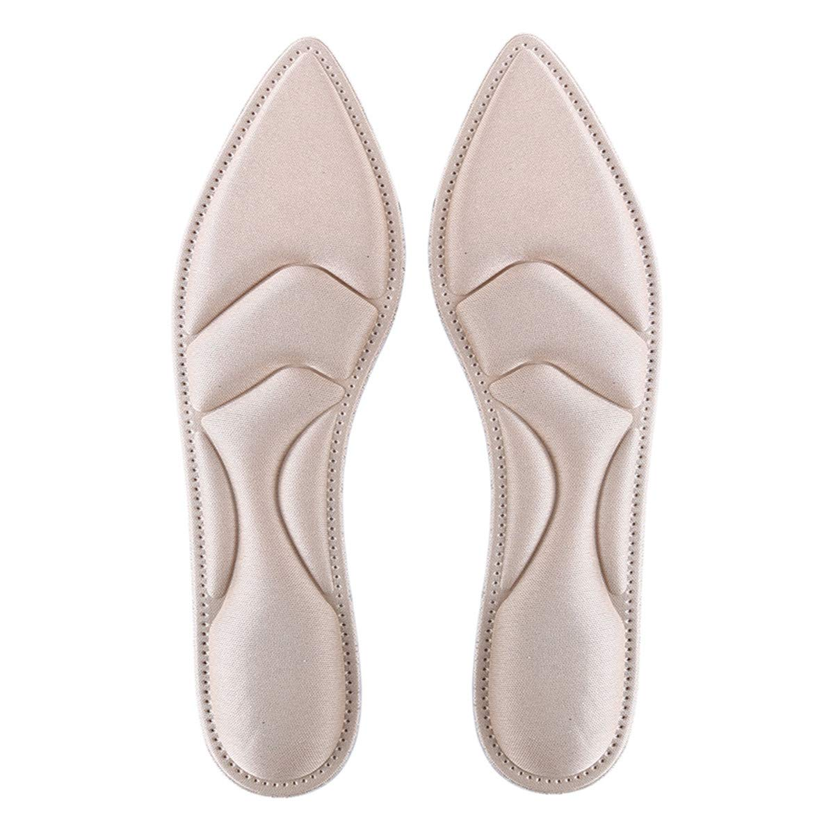 Essencedelight Shoe Insole Comfort Thin Lightweight Cushioning Comfortable Inserts Improve Shoes Comfort Walking High Heel Shoe Pads for Women