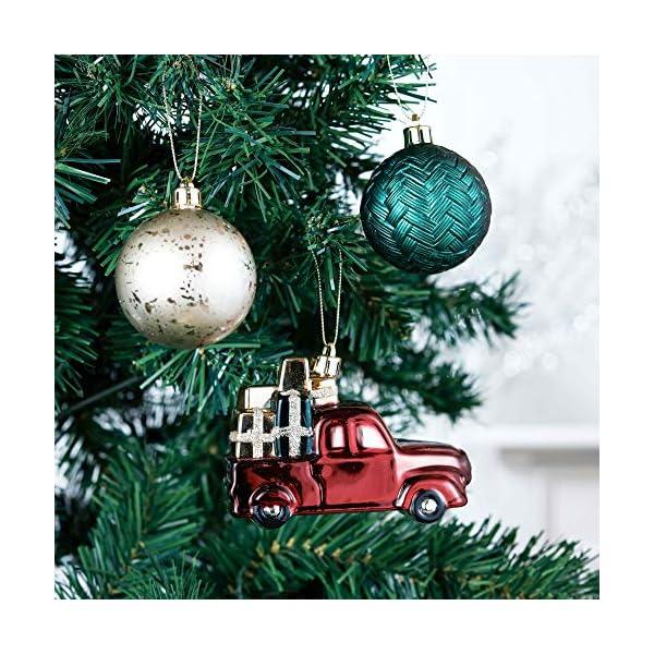 Valery Madelyn Palle di Natale 70 Pezzi di Palline di Natale, 3-6 cm di Strada di Campagna Rosso Verde e Oro Infrangibile Ornamenti di Palla di Natale Decorazione per la Decorazione 5 spesavip