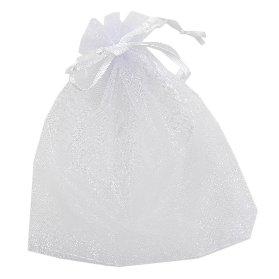 Generic Drawstring Organza Wedding Candy Packing Gift Bag Jewellery Pouch Pouches 50pcs(White) (5X7cm) HMGTUK