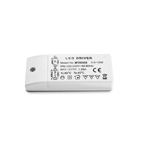 LED Transformador 220V a 12V Trafo 15W 1.25A LED Driver Fuente de Alimentación para Bajo Voltaje Bombillas G4 MR16 GU5.3 MR11
